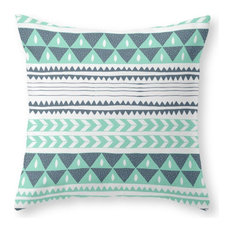 """Winter Stripe Pillow Cover, 18""""x18"""" With Insert"""