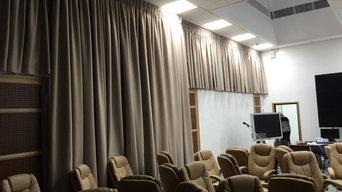 Электрокарнизы и шторы в РУДН