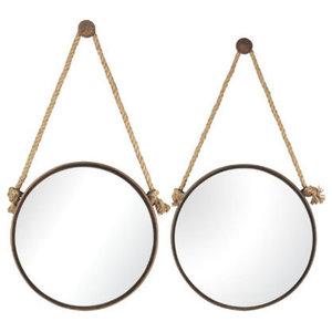 "Rust 24"" Width Circular Mirror"
