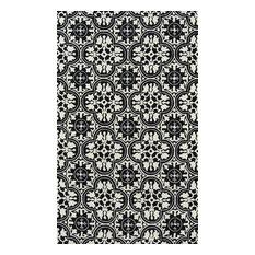 Momeni Veranda Hand Hooked Polypropylene Black Indoor Outdoor 2'x3'