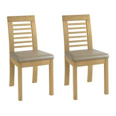 Casa Oak Slatted Chairs, Set of 2