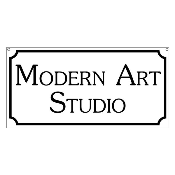Modern Art Studio-6x12 Aluminum Home Novelty Sign, 6
