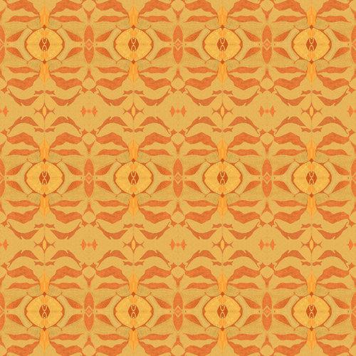 Sharon Holmin - Gold Rose Peel and Stick Wallpaper, 2'x10' Rolls - Wallpaper