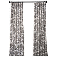 Tea Time Ochre Blackout Curtain, Pair, 50W x 108L