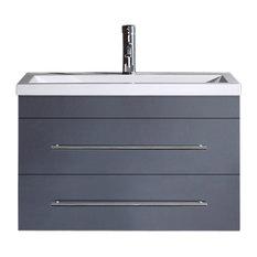 Emotion Mars 800 Bathroom Furniture, 80 cm, Anthracite Semi-Gloss