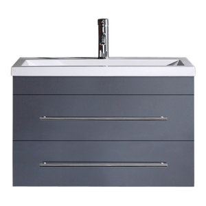 Emotion Mars 800 Bathroom Furniture, 80 cm, Anthracite Semi-Gloss