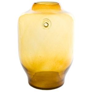 Retro Wide Vase, Honey