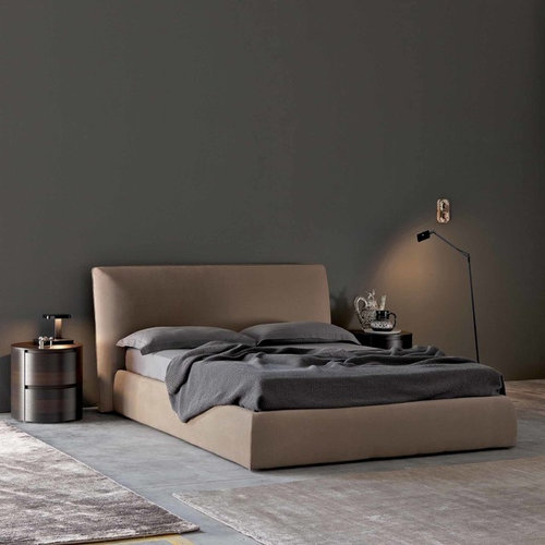 Easy Contemporary Upholstered Storage Bed By Santarossa Beds