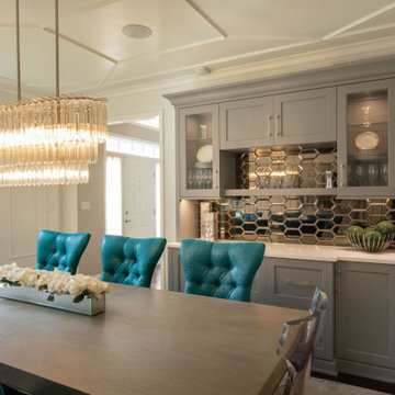 Glamorous Kitchen, Dining and Living Renovation with Entertaining in Mind