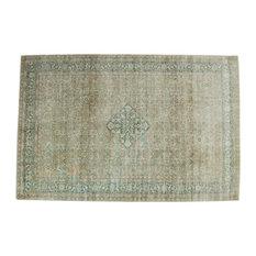 "6.5x10 Vintage Distressed Tabriz Carpet, 6'6"" x 9'10"""