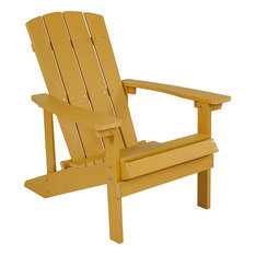 Charlestown All-Weather Adirondack Chair, Yellow Faux Wood