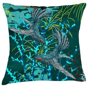 Paradise Velvet Cushion, Fireworks