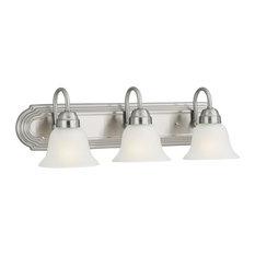Design House Allante 3 Light Vanity Light Satin Nickel Bathroom Vanity Lighting