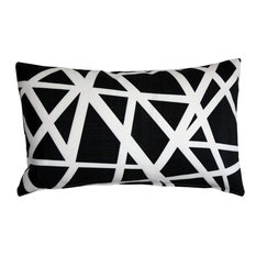 Pillow Decor - Bird's Nest Black Throw Pillow 12X20