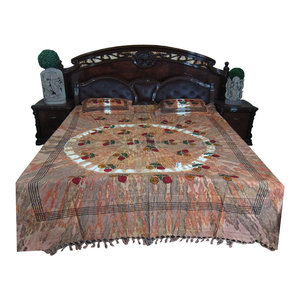 Mogul Interior - Indian Bedding Jaipuri Printed Bedspread 100% Handloom Cotton - Quilts And Quilt Sets