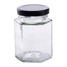 Transparent Glass Food Storage Tank Coffee Jar Airtight Containers