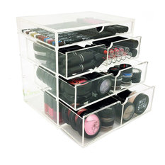 OnDisplay 4 Tier NYC Acrylic Cosmetic/Makeup Organizer