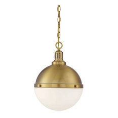 Lilly 2-Light Pendant, Warm Brass