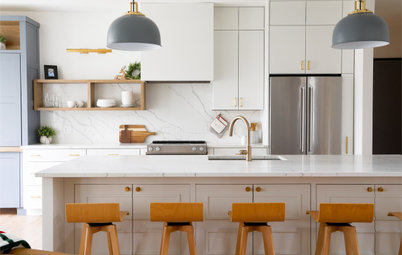 Tour a Modern Farmhouse Kitchen and Living Room