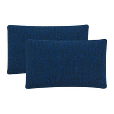 Safavieh Soleil Solid Pillow, Set of 2, Dark Marine Blue