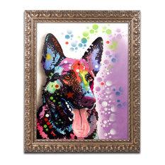 """Dean Russo 'German Shepherd II' Ornate Framed Art, 11""""x14"""""""