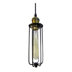 Industrial cage pendant lighting houzz remix lighting rustic industrial cage pendant lights black pendant lighting mozeypictures Images