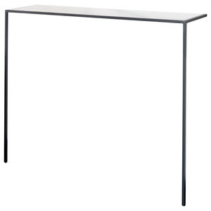 Rationaliste Console Table, Charcoal Grey