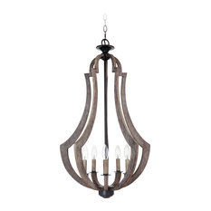 "35135-WP Craftmade Winton 5 Light 19"" Incandescent Pendant"