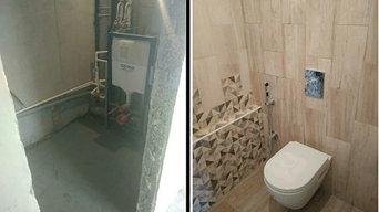 - Ремонт ванной комнаты, услуги сантехника, замена труб.