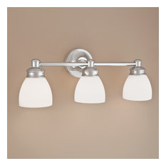 Spencer 3 Light Wall Sconce  in Chrome with Opal Glass