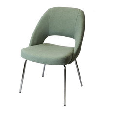Doux Basier Modern Dining Chair, Light Green