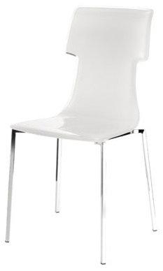 My Chair med Kromben, Vit - Spisebordsstole