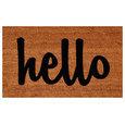 """Hello Doormat Natural/Black Script 17""""x29"""""""
