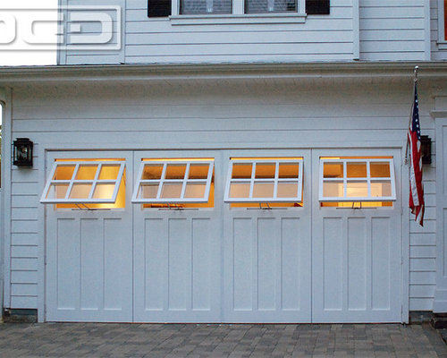 Merveilleux Real Carriage Doors With Awning Style WIndows For A Garage Playroom  Conversion!