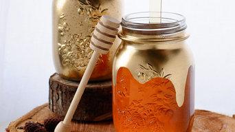 Paint Glass Jars Gold DIY Project