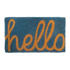 Cursive Hello Doormat Extra Thick Handwoven, Durable, 24x36