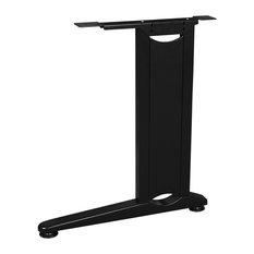 Fusion Computer Table Center Leg, Black