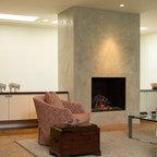 Custom Venetian Plaster Fireplace Orange County by