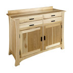 Just Cabinets Furniture & More Brett Unfinished Pine Sideboard - Buffets And Sideboards | Houzz
