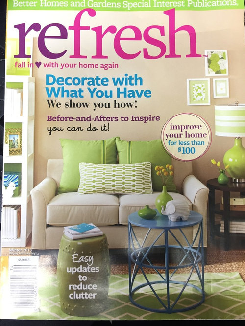 Featured Better Homes Gardens Refresh Magazine