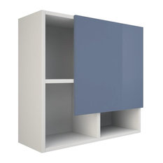 Ibiza Bathroom Wall Cabinet, Blue and White