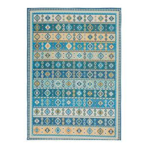 "Nourison Madera Mad08 Vintage/Distressed Rug, Light Blue, 3'6""x5'6"""