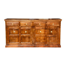 Shaker Traditional Solid Wood 4 Drawer Extra Long Sideboard Cabinet