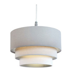 50 most popular contemporary lampshades for 2018 houzz uk lighting interiors group 3 tier linen pendant light shade grey lampshades aloadofball Image collections