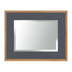 Rectangular Framed Mirror, 110x80 cm, Dark Grey