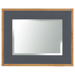 Rectangular Framed Mirror, 110x80 cm, Dark Grey