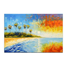 Blissful Paradise Original Oil Painting On Canvas