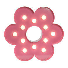 Flower Table Lamp, Pink