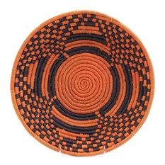 "Bukedo and Raffia Coil Weave Bowl From Uganda, 12"""