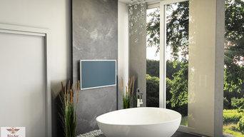 Modernes Bad mit raffinierten Ideen und Highlights